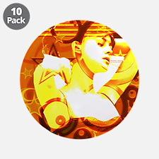 """3.5"""" Button (10 pack):Goddess in Orange"""