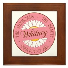 Whitney Princess Beauty Goddess Framed Tile