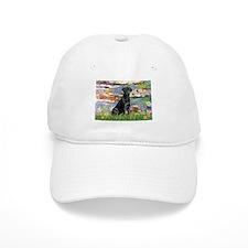 Lilies (#2) & Black Lab Baseball Cap