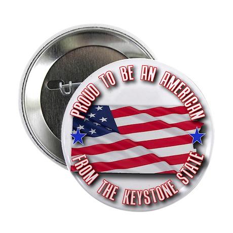 """Patriotic Pennsylvania 2.25"""" Button (100 pack)"""