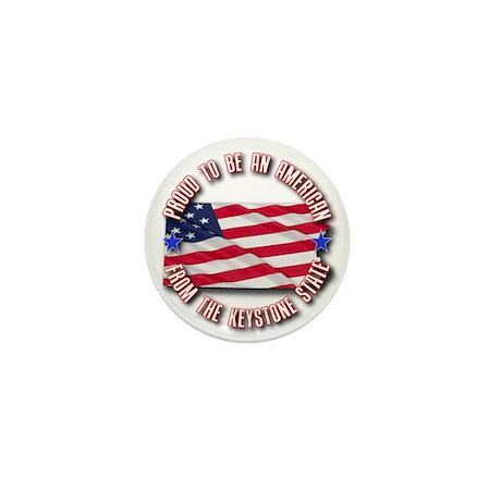 Patriotic Pennsylvania Mini Button
