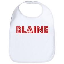 Retro Blaine (Red) Bib