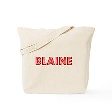 Retro Blaine (Red) Tote Bag