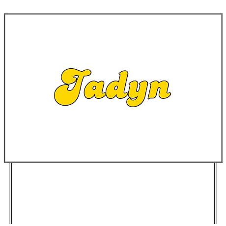 Retro Jadyn (Gold) Yard Sign