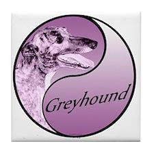 Grey Yin Purple Tile Coaster