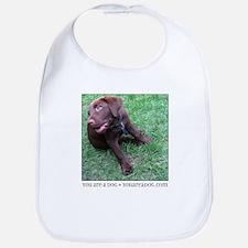 Chocolate Lab Puppy Dog Bib