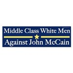 Middle Class White Men Against McCain sticker