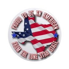 Patriotic Texas Ornament (Round)
