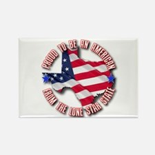 Patriotic Texas Rectangle Magnet