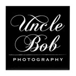 Uncle Bob Photography Tile Coaster