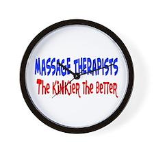 Massage therapists kinkier Wall Clock