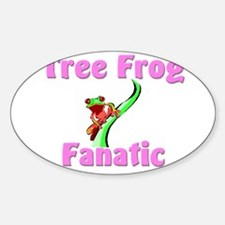 Tree Frog Fanatic Oval Decal