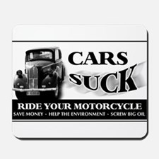 Cars Suck - Vintage Car Mousepad