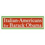 Italian-Americans for Barack Obama sticker