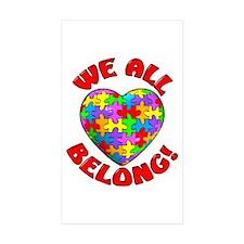 We All Belong! Rectangle Sticker 10 pk)