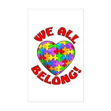We All Belong! Rectangle Decal