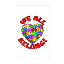 We All Belong! Rectangle Stickers