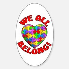 We All Belong! Oval Stickers