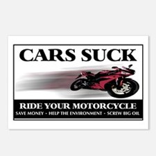 Cars Suck - Ride Your Motorcy Postcards (Package o