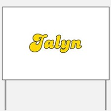 Retro Jalyn (Gold) Yard Sign