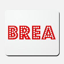 Retro Brea (Red) Mousepad