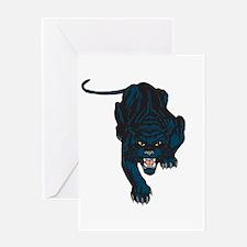 Sleek Panther Greeting Card