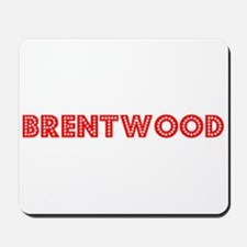 Retro Brentwood (Red) Mousepad