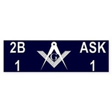 Masonic 2b1ask1 Bumper Sticker