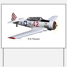 T-6 Texan Trainer Yard Sign