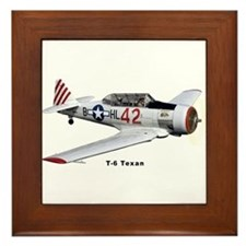 T-6 Texan Trainer Framed Tile