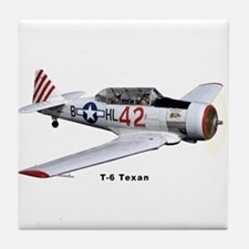 T-6 Texan Trainer Tile Coaster