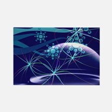 Fractal Art Blue Orbs Rectangle Magnet (10 pack)