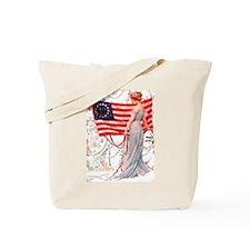 Gibson Girl and Flag Tote Bag