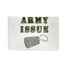Army Issue Wife Dogtags Rectangle Magnet