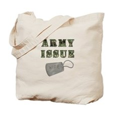 Army Issue Wife Dogtags Tote Bag