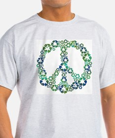 Blue Recycle Peace T-Shirt