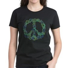 Blue Recycle Peace Tee