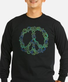 Blue Recycle Peace T