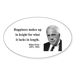 Robert Frost 4 Oval Decal