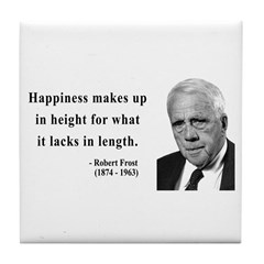 Robert Frost 4 Tile Coaster