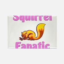 Squirrel Fanatic Rectangle Magnet