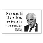 Robert Frost 3 Rectangle Sticker