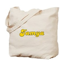 Retro Jamya (Gold) Tote Bag