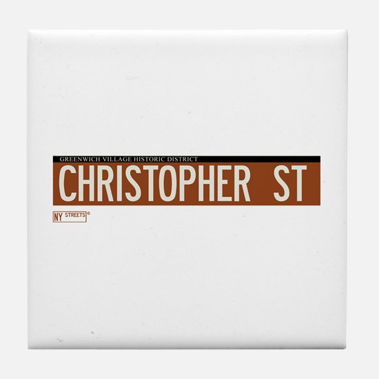 Christopher Street in NY Tile Coaster