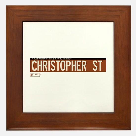 Christopher Street in NY Framed Tile