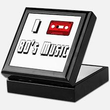 I love 80's Music Keepsake Box