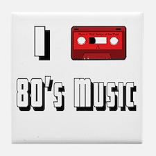 I love 80's Music Tile Coaster