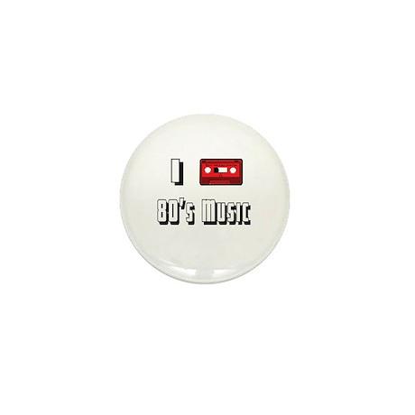 I love 80's Music Mini Button