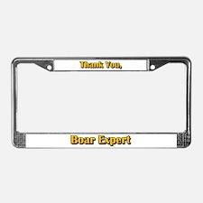 Boar Expert License Plate Frame
