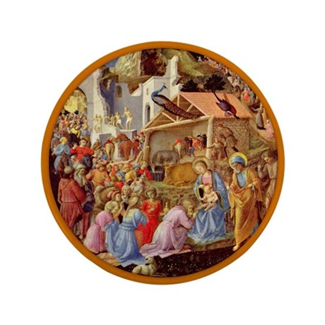 """Adoration of the Magi 3.5"""" Button (100 pack)"""
